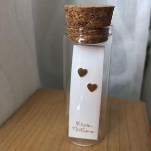 18K Gold Vermeil Heart Studs